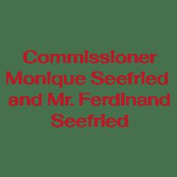 Commissioner Monique Seefried and Mr. Ferdinand Seefried